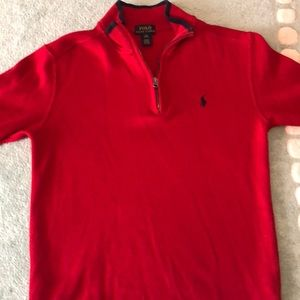 Boys red sweater by Polo.